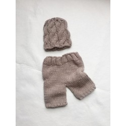0cd4a3426 Cable Knit Newborn Beanie & Pants Set